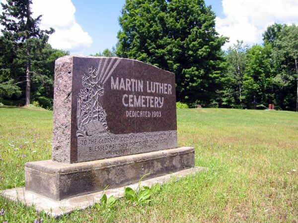 The Martin Luther Latvian Cemetery near Gleason, Wisconsin, was dedicated in 1903.