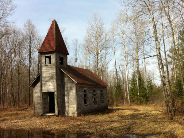 Not far from the Latvian cemetery is the first Estonian Lutheran church built in America